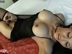 Sexy ladyboy toying her butthole