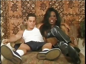 Interracial TS vintage tube