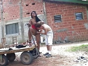 Latin tranny fucking outdoor