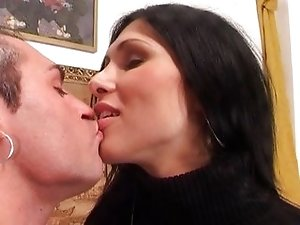 Gorgeous tranny riding cock is feeling the vibe