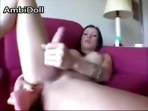 Shemale Dildo Fucking And Jerking
